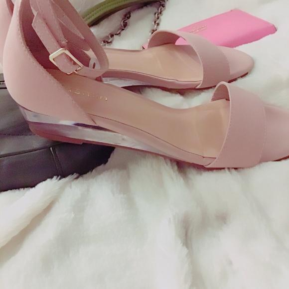 6764bdf84f9 Blush Pink Clear Heels Sandals NWT